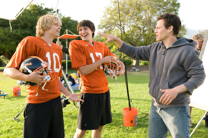 Nicholas D'Agosto, Will Gluck, and Eric Christian Olsen in Fired Up! (2009)