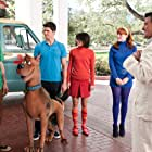 Ted McGinley, Frank Welker, Robbie Amell, Kate Melton, Nick Palatas, and Hayley Kiyoko in Scooby-Doo! Curse of the Lake Monster (2010)