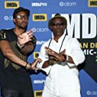 Wesley Snipes and RZA at an event for Cut Throat City (2020)