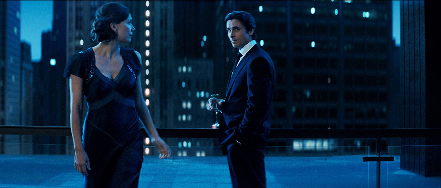 Christian Bale and Maggie Gyllenhaal in The Dark Knight (2008)