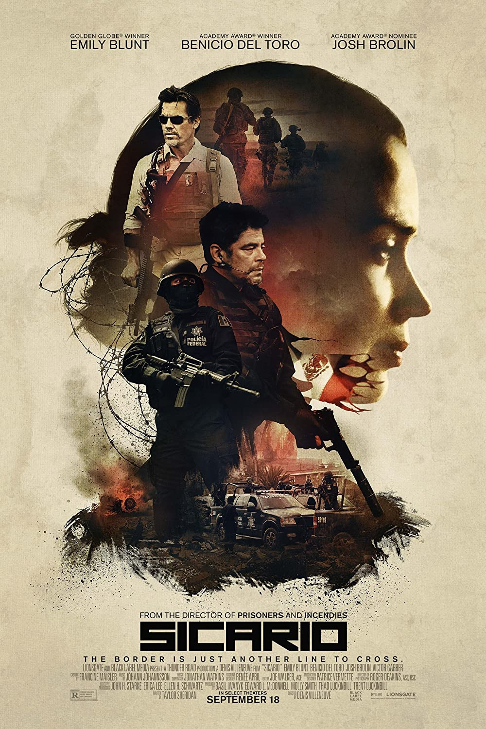 Sicario 2015 Hindi ORG Dual Audio 300MB BluRay 480p ESubs Download