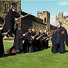 Rupert Grint, Matthew Lewis, Daniel Radcliffe, Zoë Wanamaker, and Emma Watson in Harry Potter and the Sorcerer's Stone (2001)