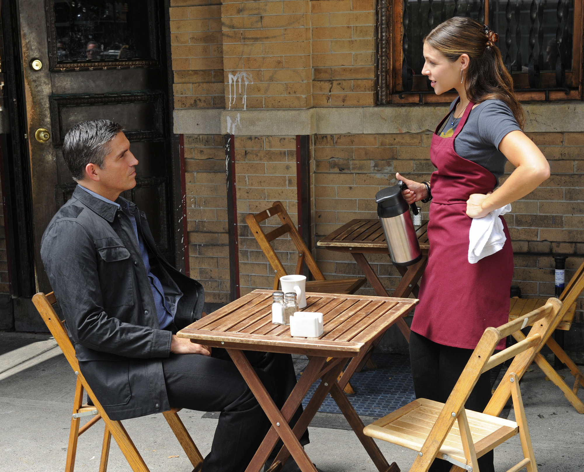 Jim Caviezel and Lili Mirojnick in Person of Interest (2011)