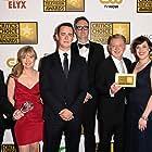 Colin Hanks, John Cameron, Geyer Kosinski, Warren Littlefield, Kim Todd, Noah Hawley, and Allison Tolman at an event for Fargo (2014)