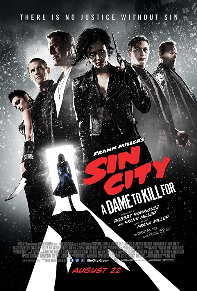 Bruce Willis, Mickey Rourke, Josh Brolin, Jessica Alba, Rosario Dawson, Joseph Gordon-Levitt, and Eva Green in Sin City: A Dame to Kill For (2014)