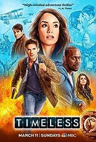 Malcolm Barrett, Abigail Spencer, Goran Visnjic, Matt Lanter, Claudia Doumit, and Sheldon Landry in Timeless (2016)