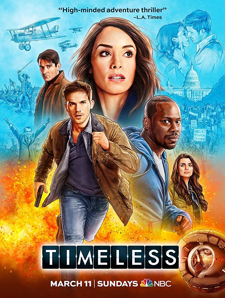Malcolm Barrett, Abigail Spencer, Goran Visnjic, Matt Lanter, and Claudia Doumit in Timeless (2016)
