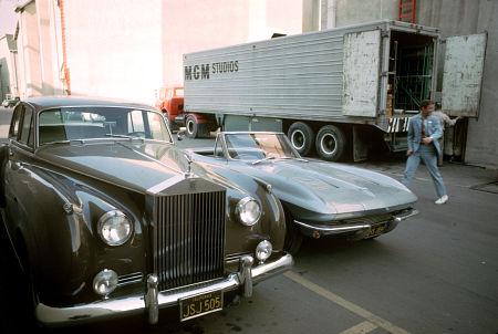 """""""Dr Kildare"""" Richard Chamberlain with his 1963 Chevrolet Corvette"""