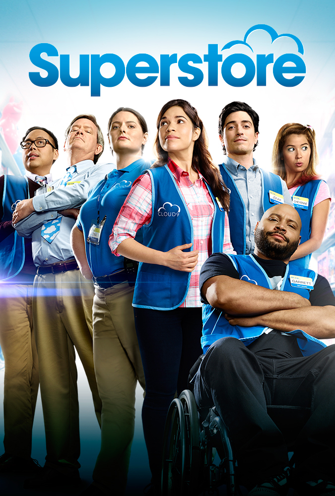 Mark McKinney, America Ferrera, Ben Feldman, Colton Dunn, Lauren Ash, Nichole Bloom, and Nico Santos in Superstore (2015)