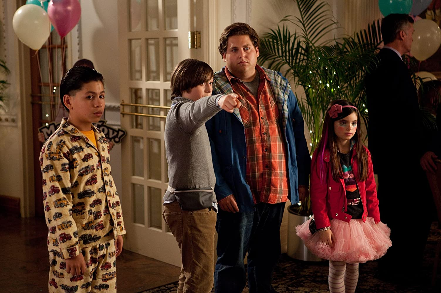 Jonah Hill, Max Records, Kevin Balmore, and Landry Bender in The Sitter (2011)