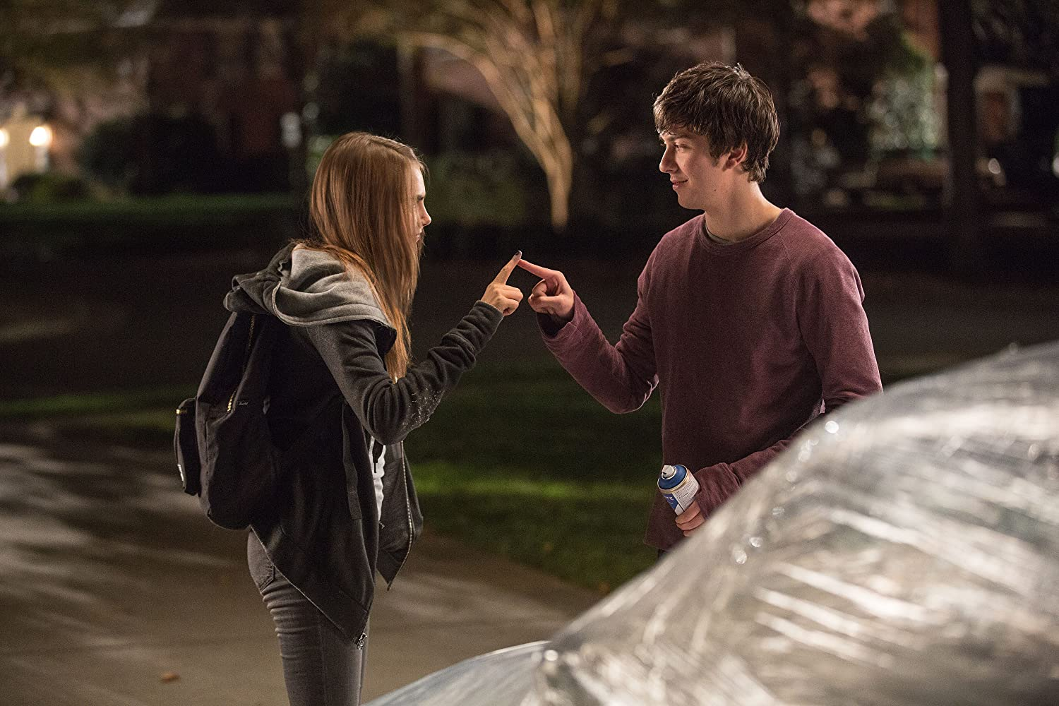 Nat Wolff and Cara Delevingne in Paper Towns (2015)