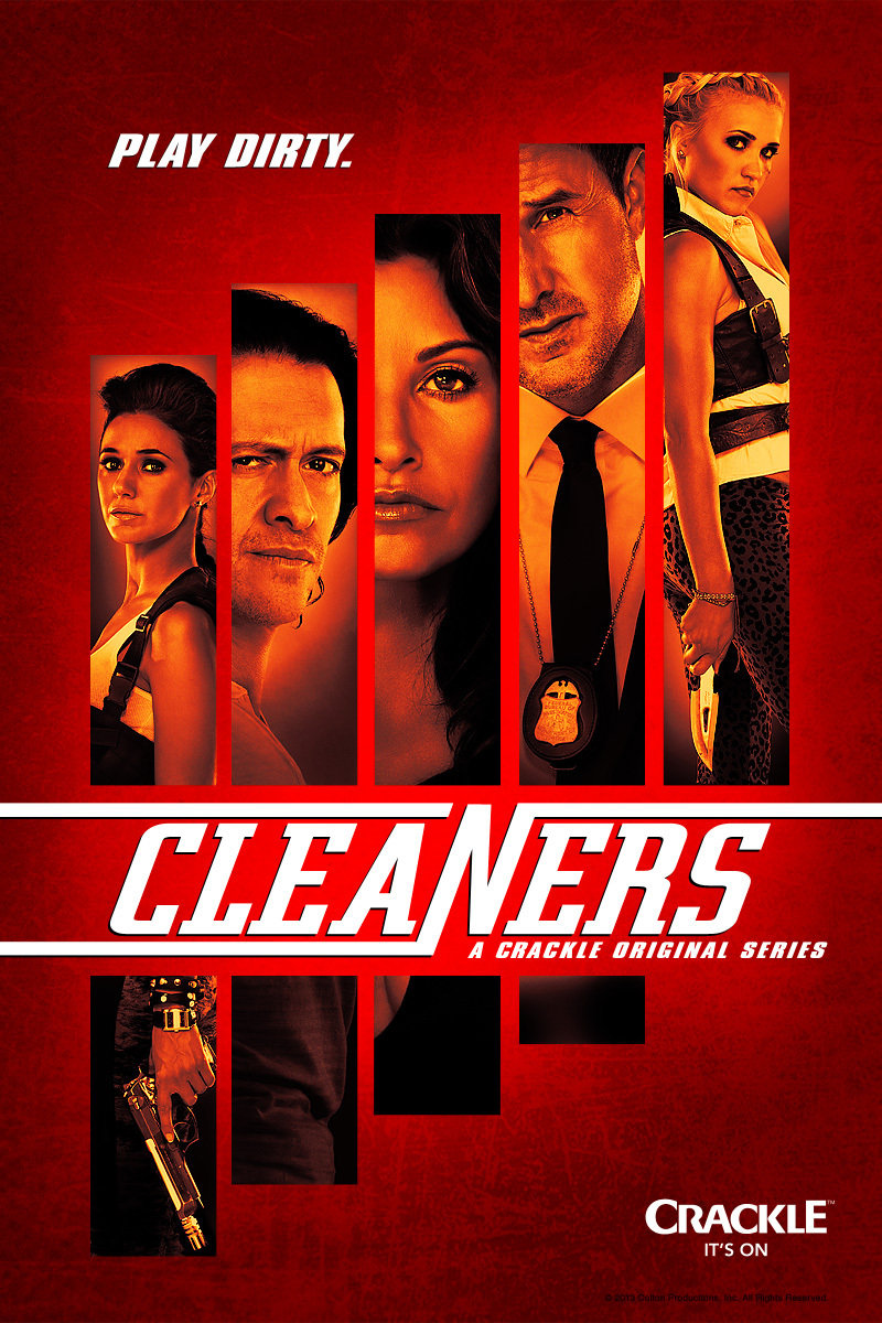 Gina Gershon, David Arquette, Clifton Collins Jr., Emmanuelle Chriqui, and Emily Osment in Cleaners (2013)