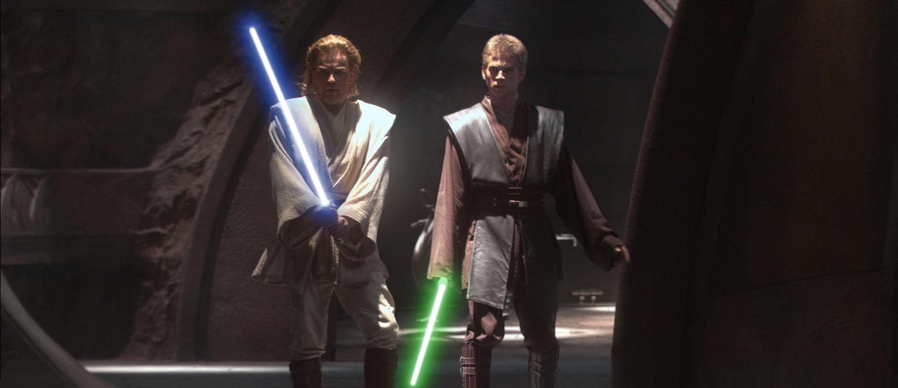 Ewan McGregor and Hayden Christensen in Star Wars: Episode II - Attack of the Clones (2002)
