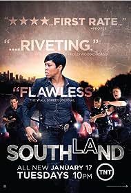 Shawn Hatosy, Regina King, Michael Cudlitz, and Ben McKenzie in Southland (2009)