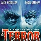 Jack Nicholson, Boris Karloff, and Sandra Knight in The Terror (1963)