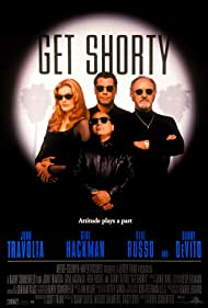 John Travolta, Danny DeVito, Gene Hackman, and Rene Russo in Get Shorty (1995)
