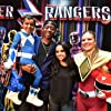 Becky G and RJ Cyler at an event for Power Rangers (2017)