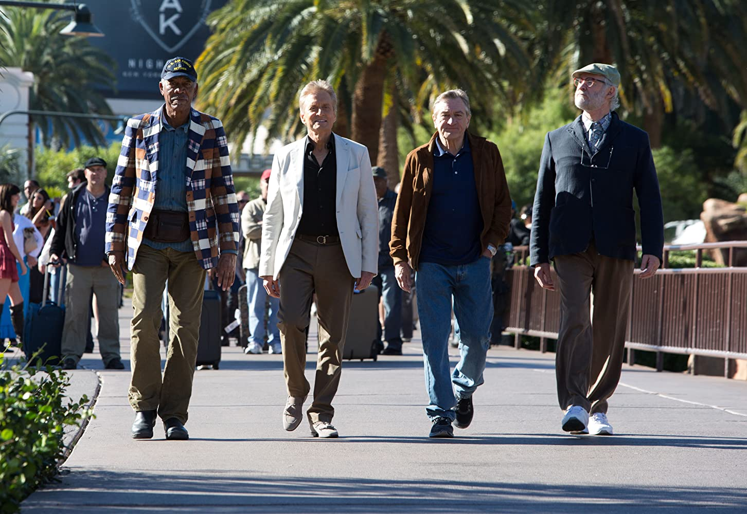 Robert De Niro, Michael Douglas, Morgan Freeman, and Kevin Kline in Last Vegas (2013)
