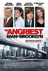 Robin Williams, Mila Kunis, Peter Dinklage, and Melissa Leo in The Angriest Man in Brooklyn (2014)