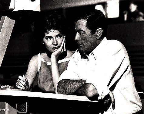 Gregory Peck and Polly Bergen in Cape Fear (1962)