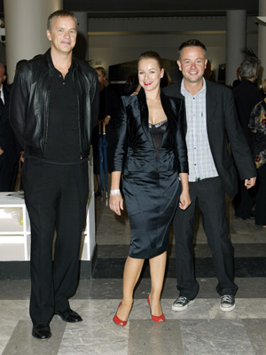 Tim Robbins, Samantha Morton, and Michael Winterbottom at an event for Code 46 (2003)