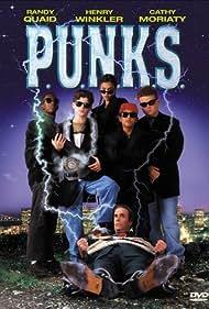 Henry Winkler, Jessica Alba, Brandon Baker, Kenneth A. Brown, Tim Redwine, and Patrick Renna in P.U.N.K.S. (1999)