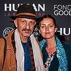 HUMAN at the Grand Rex in Paris. Reza Deghati and his wife.