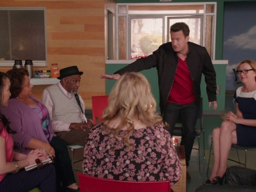 Matthew Perry, Bill Cobbs, Julie White, and Tonita Castro in Go On (2012)
