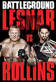 Brock Lesnar and Colby Lopez in WWE Battleground (2015)