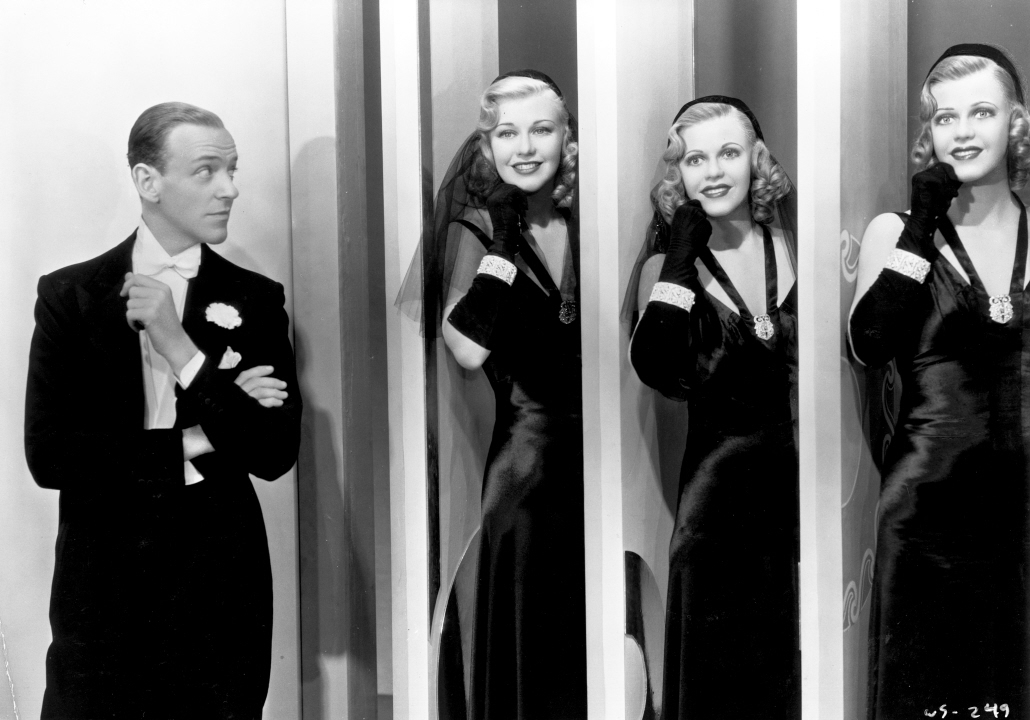 Fred Astaire, Ginger Rogers, Jane Hamilton, and Marie Marks in Shall We Dance (1937)