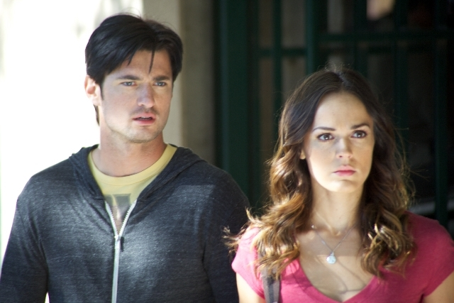 Erin Cahill and Wes Brown in Storm War (2011)