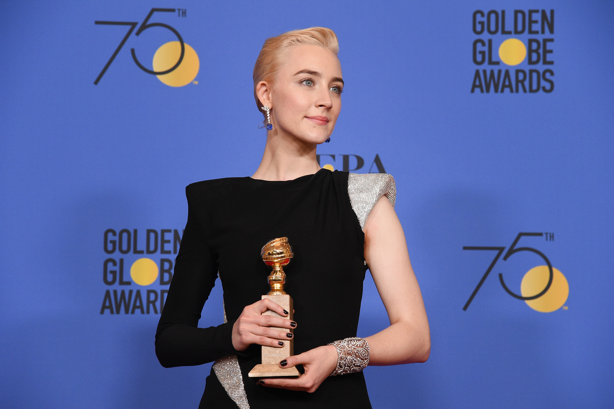 Saoirse Ronan at an event for The 75th Annual Golden Globe Awards 2018 (2018)