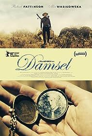 Robert Pattinson and Mia Wasikowska in Damsel (2018)