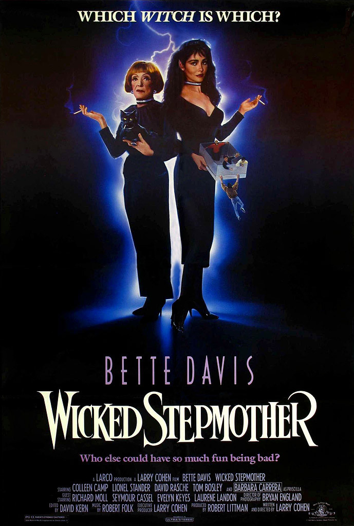 Bette Davis and Barbara Carrera in Wicked Stepmother (1989)