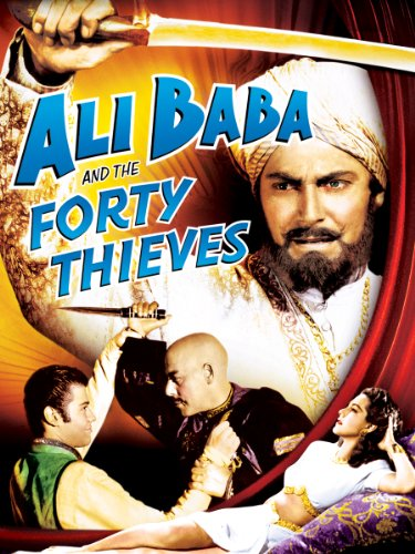 Turhan Bey, Jon Hall, Kurt Katch, and Maria Montez in Ali Baba and the Forty Thieves (1944)