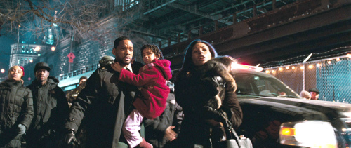 Will Smith, Salli Richardson-Whitfield, and Willow Smith in I Am Legend (2007)