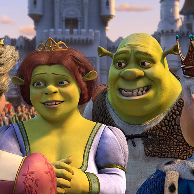 John Cleese, Cameron Diaz, Mike Myers, and Julie Andrews in Shrek 2 (2004)