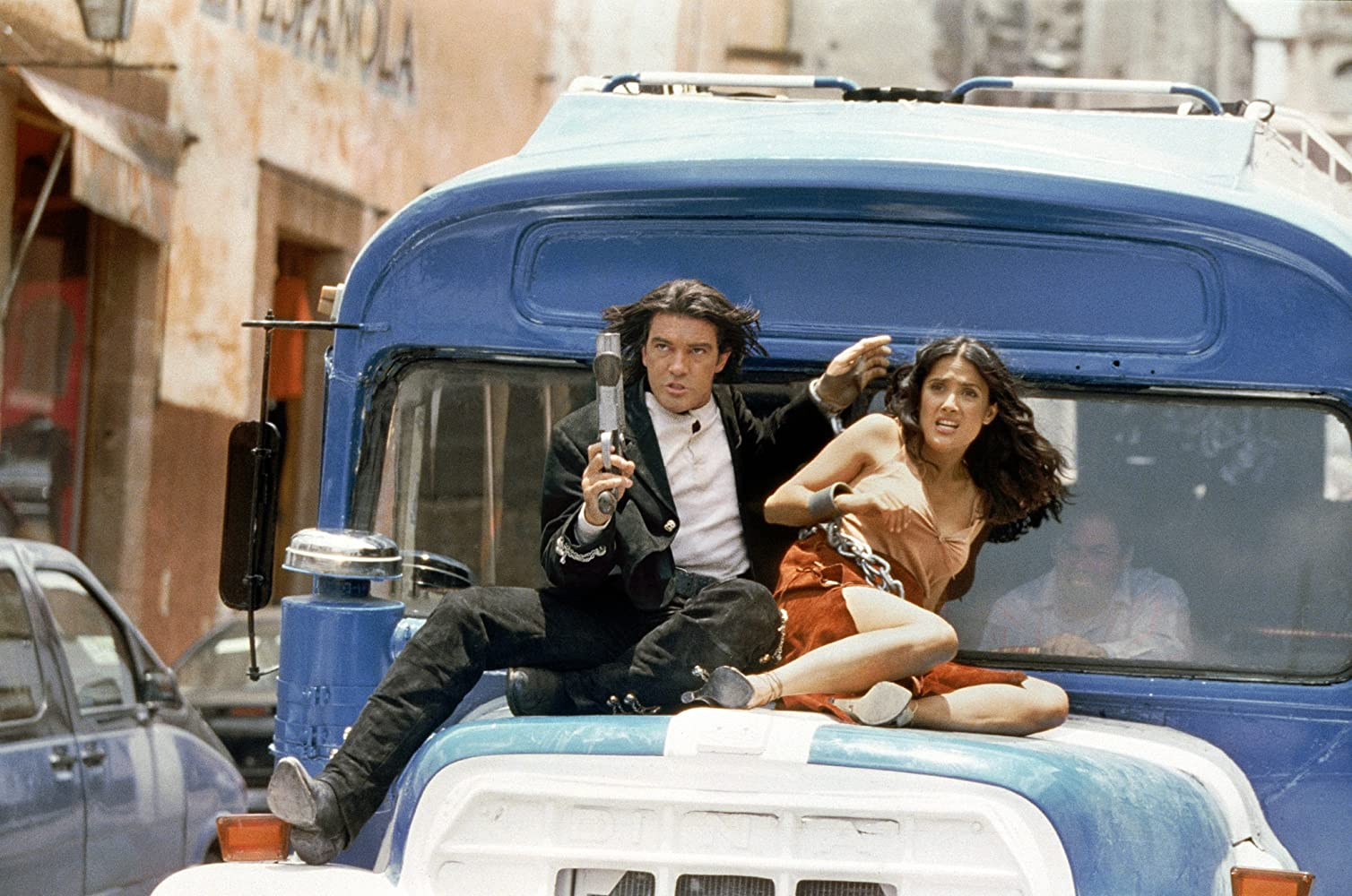 Antonio Banderas and Salma Hayek in Once Upon a Time in Mexico (2003)