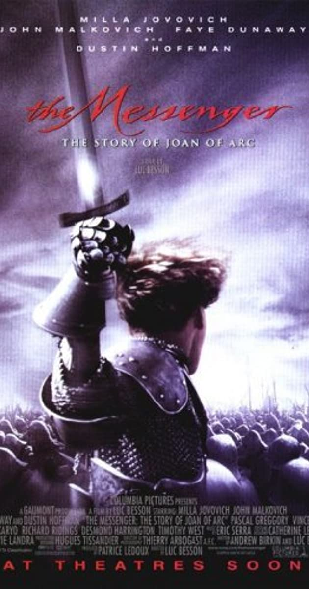 Subtitle of The Messenger: The Story of Joan of Arc