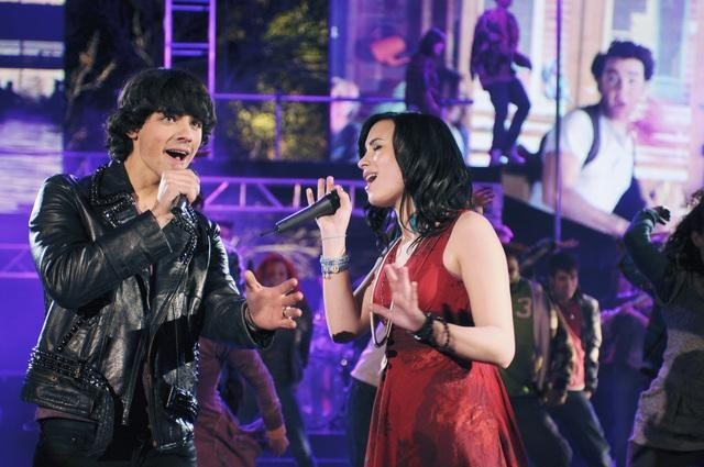 Demi Lovato and Joe Jonas in Camp Rock 2: The Final Jam (2010)