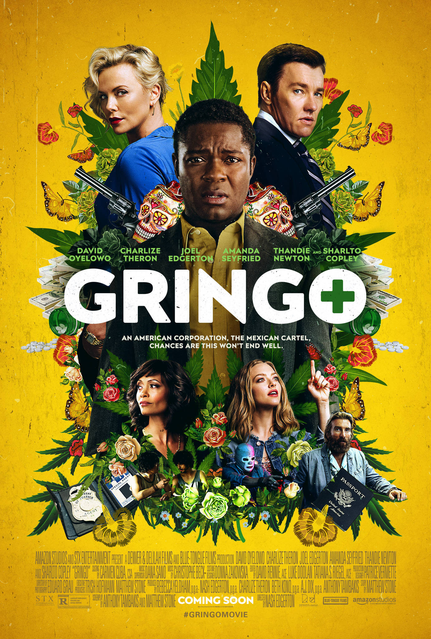 Gringo 2018 Hindi ORG Dual Audio 400MB BluRay 720p HEVC x265 ESubs Download