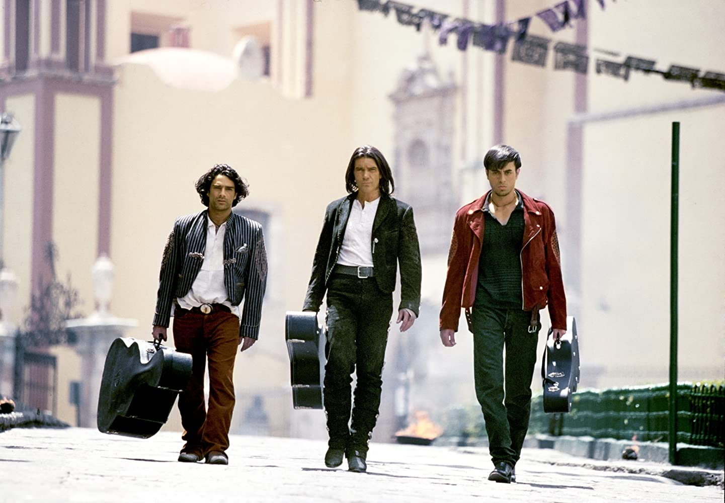 Antonio Banderas, Enrique Iglesias, and Marco Leonardi in Once Upon a Time in Mexico (2003)