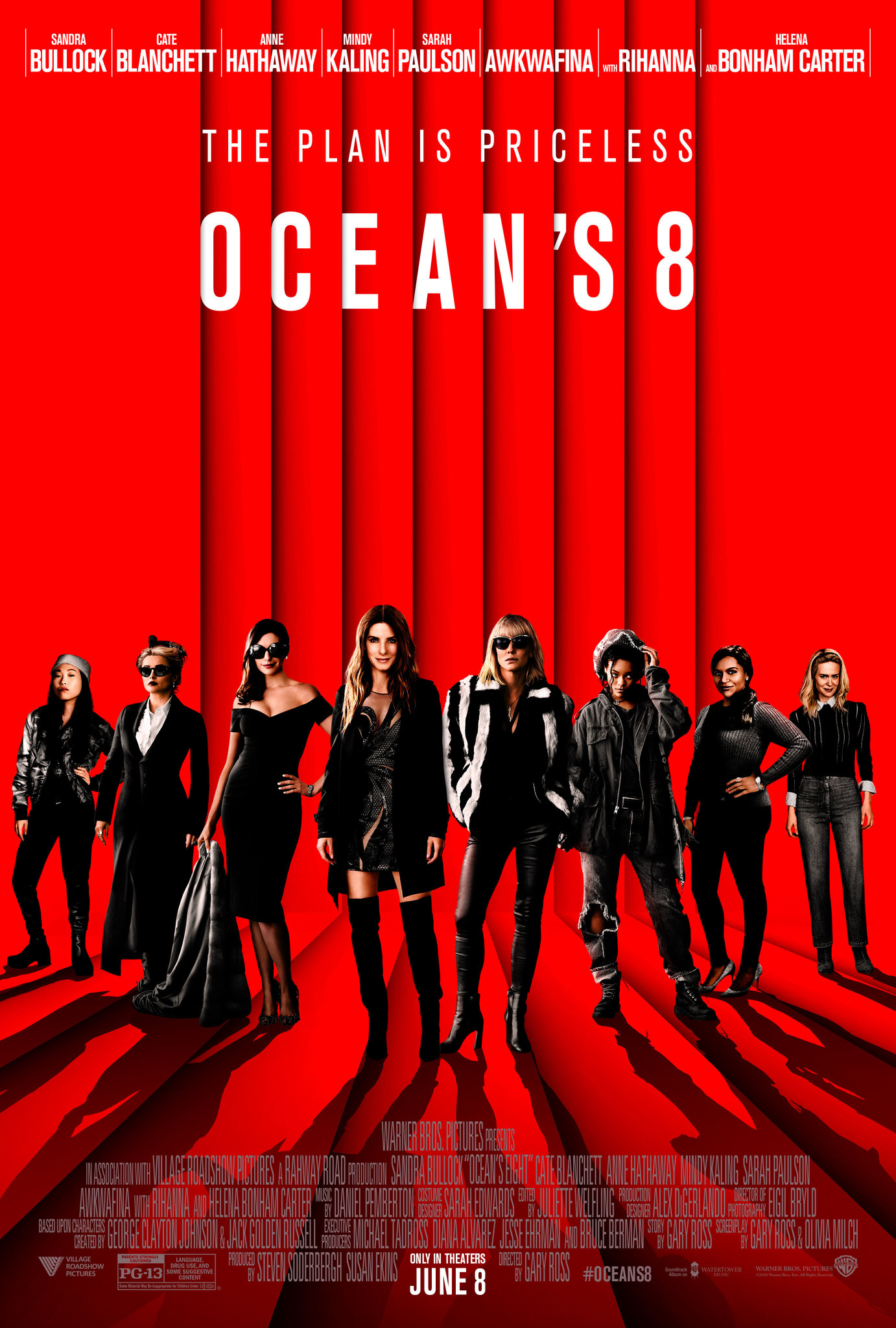 Ocean's Eight (2018) English Blu-Ray – 480P | 720P | 1080P – x264 & x265(HEVC) – 450MB | 900MB | 1.17GB