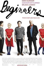 Ewan McGregor, Christopher Plummer, Mélanie Laurent, and Cosmo in Beginners (2010)