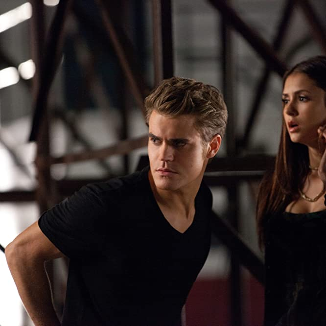 Paul Wesley and Nina Dobrev in The Vampire Diaries (2009)