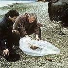 Warren Frost, Sheryl Lee, and Michael Ontkean in Twin Peaks (1990)