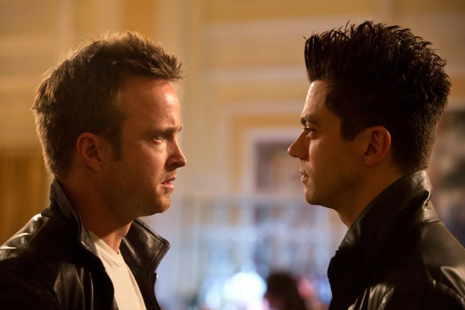 Aaron Paul and Dominic Cooper in Need for Speed (2014)