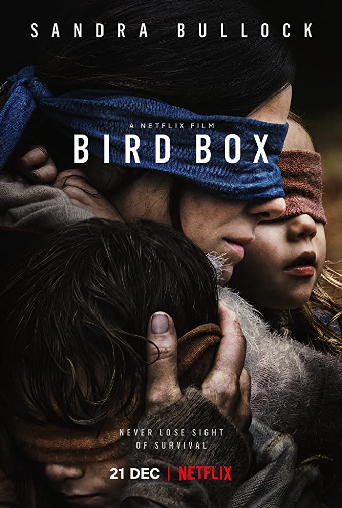 Sandra Bullock, Julian Edwards, and Vivien Lyra Blair in Bird Box (2018)