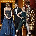 Jennifer Lopez, Nick Jonas, and Kiesza at an event for The 69th Annual Tony Awards (2015)