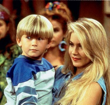Christina Applegate and Shane Sweet in Married with Children (1987)